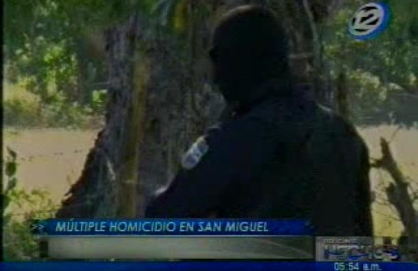 Múltiple homicidio se registró en San Miguel