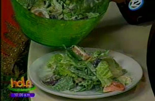 Prepara un rica ensalada junto al Chef Arévalo