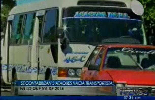 Se contabilizan 93 empleados de transporte público asesinados por delincuentes