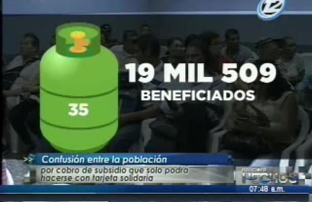 Beneficiados por el subsidio al gas tuvieron problemas para cobrar el beneficio