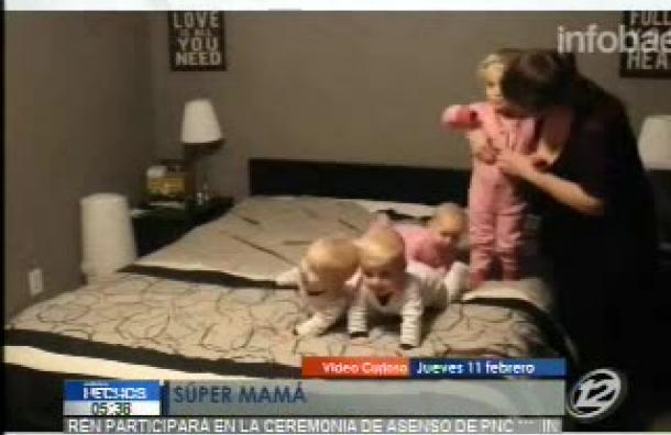 Esta canadiense es una «Super Mamá»