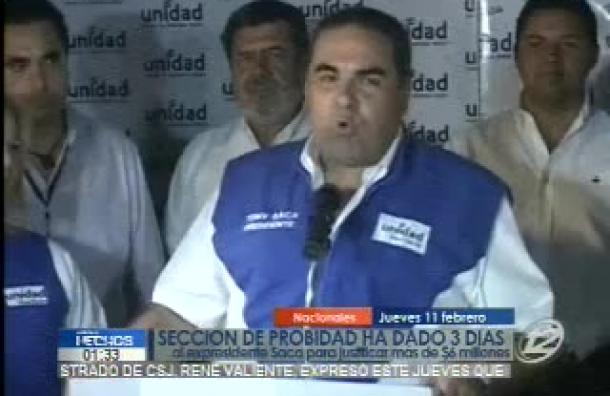 Elías Antonio Saca deberá justificar más de 6 millones de dólares