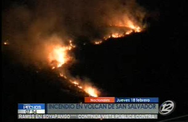 Incendio en Volcán de San Salvador
