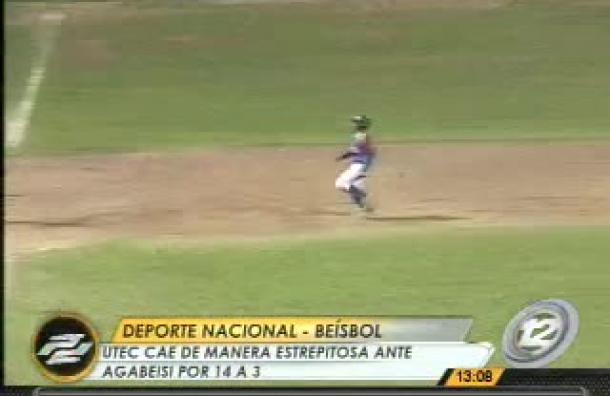 Beísbol: UTEC cae frente Agabeisi