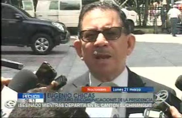 Eugenio Chicas habla sobre medidas de seguridad