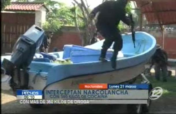 350 kilos de cocaína fueron incautadas en Jiquilisco