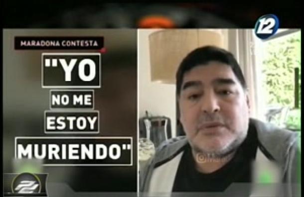 Maradona lanza duro mensaje: «Yo no me estoy muriendo»