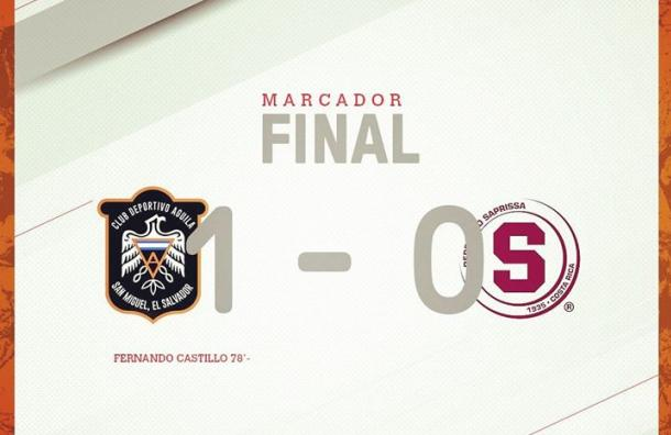 CD Águila quedó eliminado de la Liga Concacaf