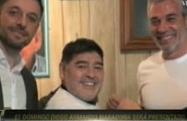 Diego Armando Maradona será presentado el domingo como nuevo D.T.