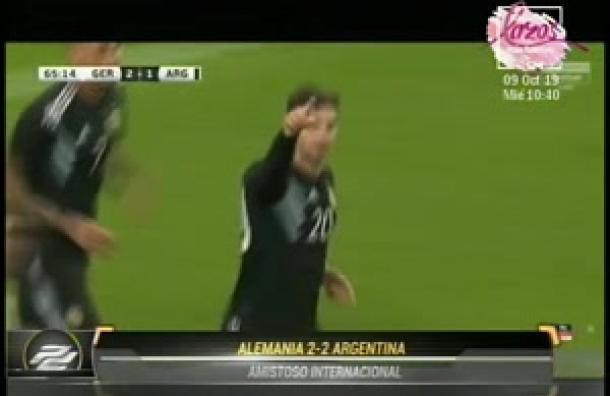 Argentina rescata un empate a 2 con Alemania en amistoso internacional