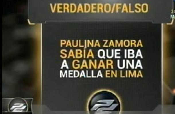 Paulina Zamora se somete al juego verdadero y falso