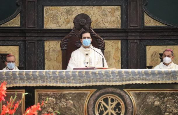 Misa solemne en la Catedral Metropolitana tuvo un toque distinto por la pandemia