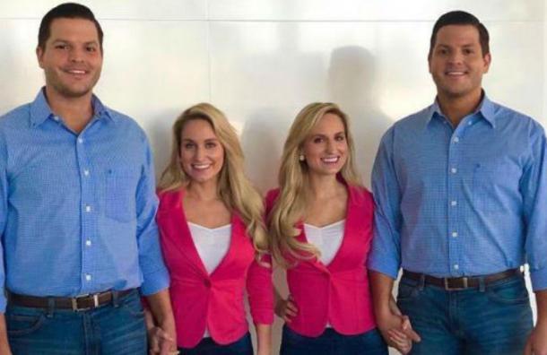 Dos parejas formadas por dos gemelas y dos gemelos serán padres al mismo tiempo